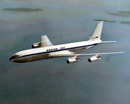 Image result for first domestic passenger jet flight with boeing 707 in 1958