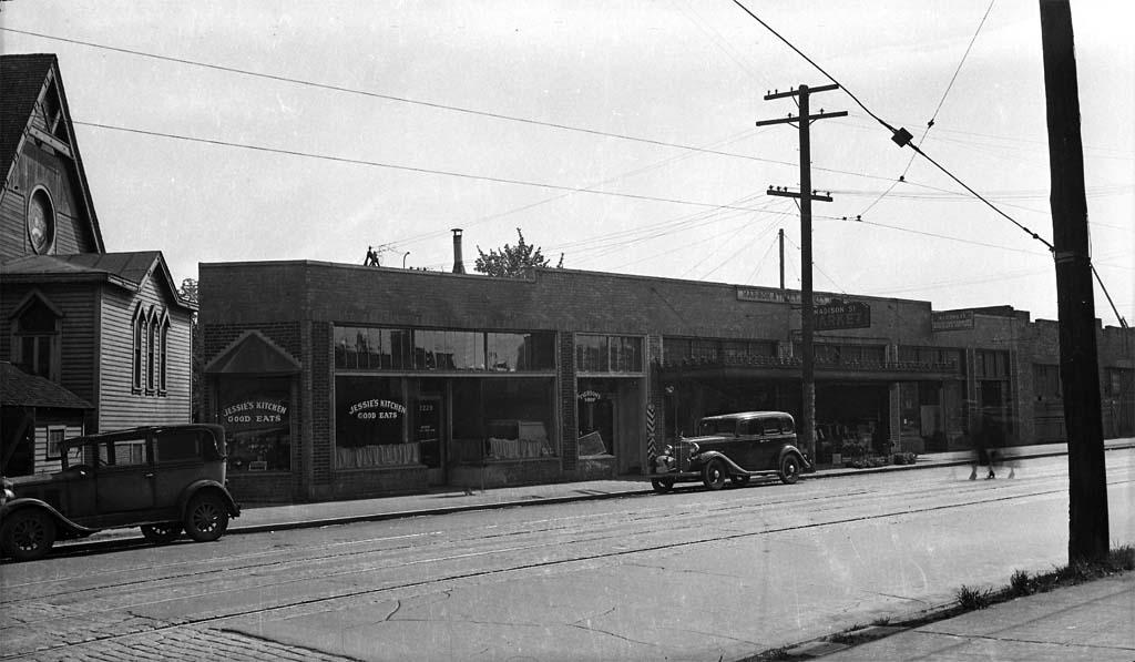 Washington Photo 1940s Seattle Autos 14th /& Madison