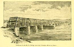 First Trains Cross The Northern Pacific Railroad Bridge