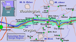 Congress Designates The Columbia River Gorge As A National Scenic - Columbia-river-map-us
