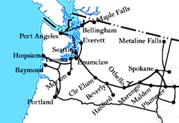Chicago, Milwaukee & Puget Sound Railway inaugurates twice ... on strasburg railroad route map, southern railway route map, air china route map, iberia route map, grand trunk route map, wheeling & lake erie route map, mt. shasta route map, chicago great western route map, united route map, union pacific route map, milwaukee railroad lines, dallas area rapid transit route map, illinois central route map, virginia & truckee route map, georgia railroad route map, via rail canada route map, rock island route map, air canada route map, milwaukee railroad in idaho, soo line railroad map,