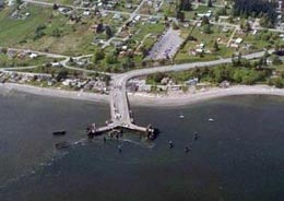 Clinton Ferry Dock On Beautiful Whidbey Island