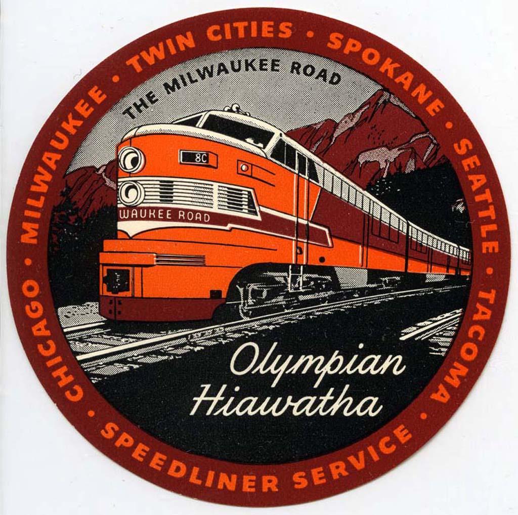 Milwaukee Road Railroad Advertising Poster Hiawatha Streamliner Service