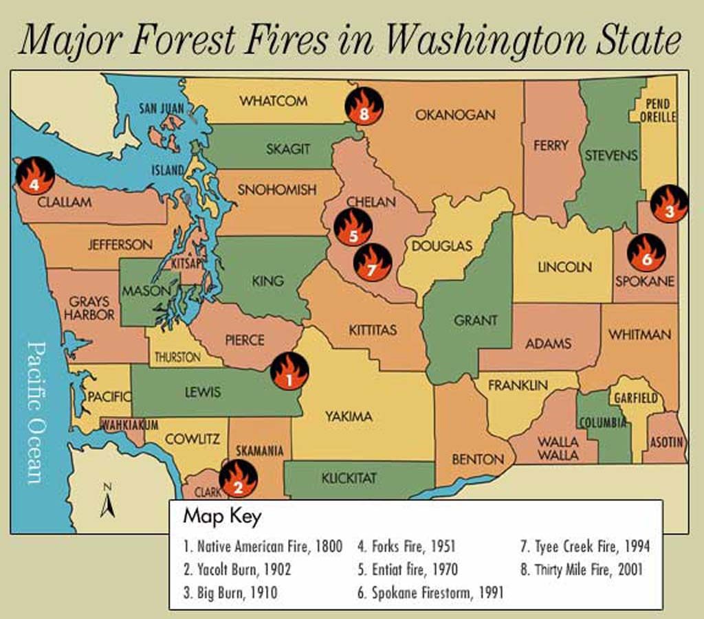 Washington Forest Fires A Tour Historylink Org