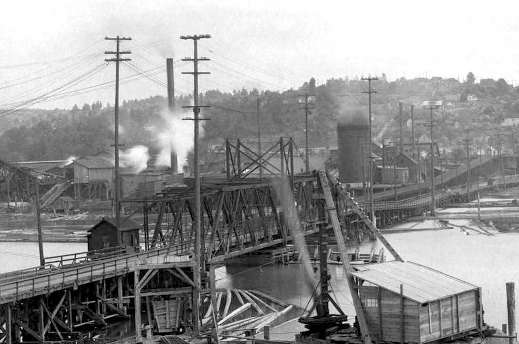 Fourteenth Avenue Nw Bridge Salmon Bay Drawbridge Seattle