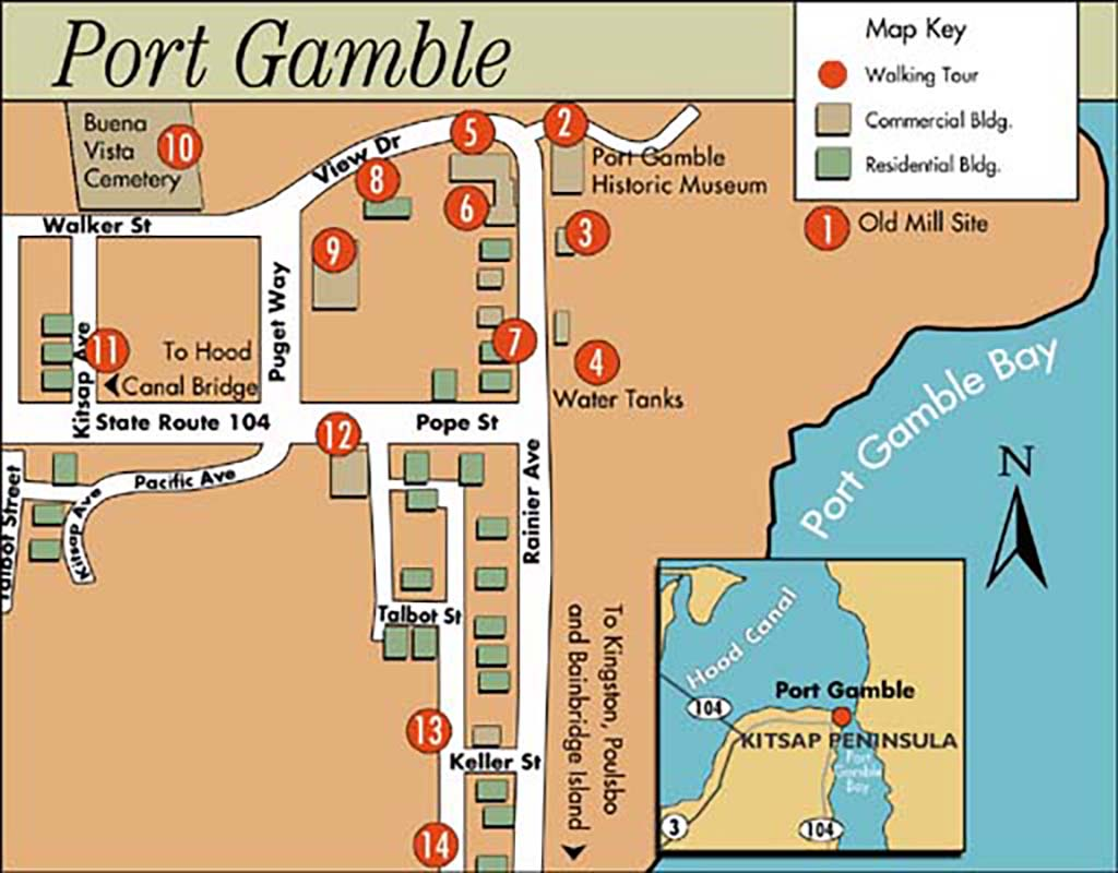 Port Gamble Washington Map.Port Gamble Tour Historylink Org