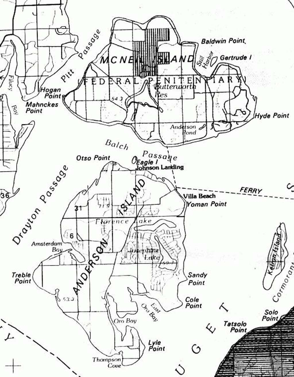 Mcneil Island Map McNeil Island and the Federal Penitentiary, 1841 1981