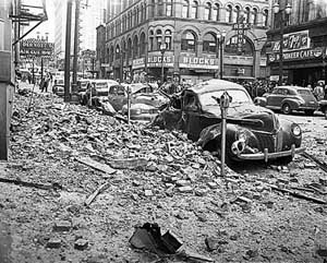 Earthquake Hits Puget Sound Area On April 13 1949