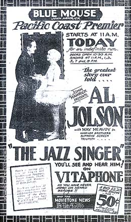 The Jazz Singer First Successful Feature Film With Sound