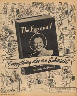 Ad for the egg and i in the new york times book review july 21 1946