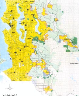 King County sets urban-growth boundary on July 6, 1992