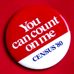 Census '80 Button: You CanCount on Me