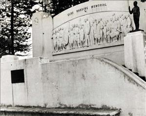 Harding Memorial in Seattle's Woodland Park is dedicated