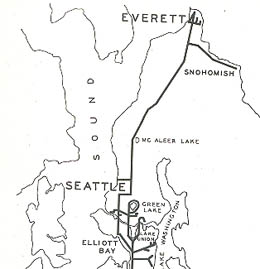 Interurban Rail Service Between Everett And Seattle Ends