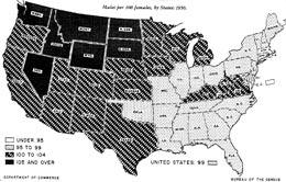 Census Low Birthrate Of Great Depression Skews Population 1950 Us Map